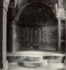 Blaine Ellis: Altar, cut rock church, Cappodocia, 2000