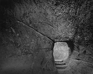 Blaine Ellis: Cave Entance With Steps, Sperlinga, Sicily, 2006