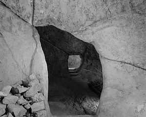 Blaine Ellis: Cave Entrance With rock Pile, Sperlinga, Sicily, 2006