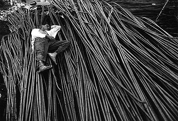 Claudio Cambon: Asleep: End of the Night Shift, Steel Rerolling Mill, 1998