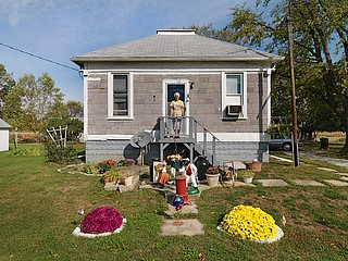Dave Jordano: Verda with Her Yard Art, Claytonville, IL , 2007