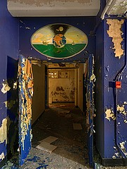 Dave Jordano: Hallway Entrance, Chanute AFB, Rantoul, IL