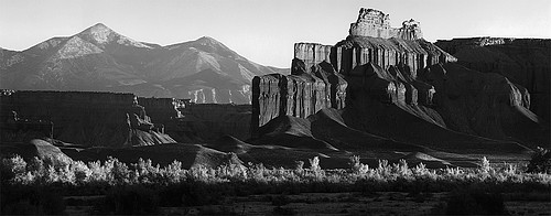 David H. Gibson: Light Struck Butte and River Bottom, Hanksville, Utah, 1997