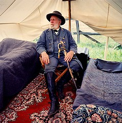 David Graham: Bob Moates as General Robert E. Lee. Gettysburg, PA, 1993