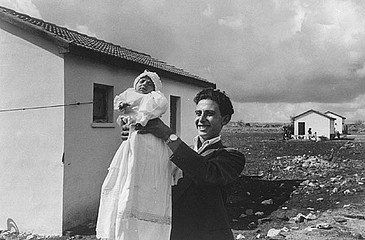 David Seymour: First Child Born in Settlement, Alma, Israel, 1951