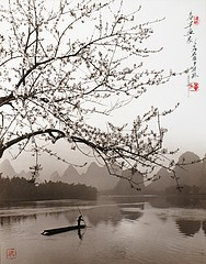 Don Hong-Oai: Spring Bamboo Boat (vertical)