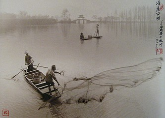 Don Hong-Oai: Dawn on West Lake, Hangzhou, 1990