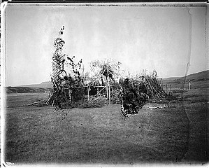 Drex Brooks: Ceremonial Grounds, Rocky Boy's Reservation, Montana, 1994