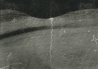 Edward Ranney: Petroglyph Panel, San Cristobal Pueblo, Galisteo Basin, New Mexico