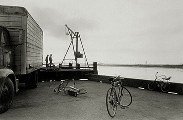 Elaine Mayes: Bicycles on Dock, Eureka, CA, 1972