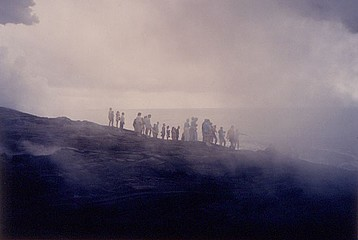 Elaine Mayes: Tourists & Steam, Lava, Big Island of Hawaii, 1992