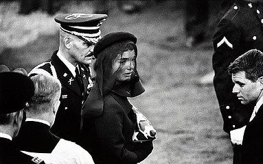 Elliott Erwitt: Jacqueline Kennedy at the funeral of President John F. Kennedy.  Arlington, 1963