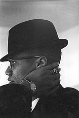 Eve Arnold: Malcolm X.  Chicago, 1961