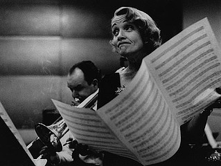 Eve Arnold: Marlene Dietrich at the Recording Studios of Columbia Records.  New York, 1952