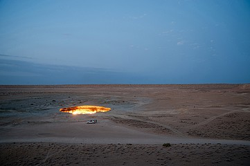 Frank Ward: Gate of Hell, Karakum Desert, Turkmenistan, 2011