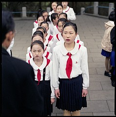Hiroshi Watanabe: Students and Their Teacher, Mangyongdae, North Korea