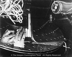 Imogen Cunningham: Hand of Henry Cowell and His Rhythmicon, about 1932