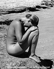 Imogen Cunningham: H Mayer@ Canyon de Chelly, 1939