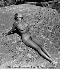 Imogen Cunningham: H Mayer@ Canyon de Chelly 3, 1939