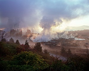 Jeff Rich: Blue Ridge Paper Mill, The Pigeon River, Canton, North Carolina