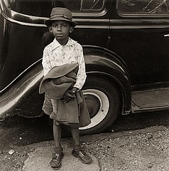 Jerome Liebling: Boy and Car, New York City, 1949