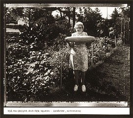 Jim Stone: Ada Mac Gregor and Her Squash:  LaCrosse, Wisconsin, 1984