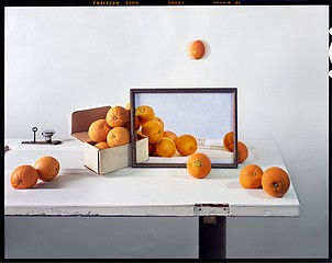 John Chervinsky: Oranges, Painting on Door