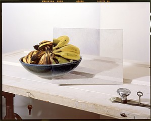 John Chervinsky: Bananas in Bowl with Painting on Door
