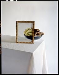 John Chervinsky: Bananas in Bowl with Painting on Table, 2010
