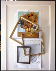 John Chervinsky: Calendar, Paintings on Door, 2012
