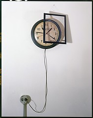 John Chervinsky: Clock, Outlet and painting on Wall, 2011
