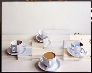 John Chervinsky: Coffeecups and Painting on Door, 2011