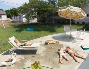 Julie Blackmon: Lying Out, 2015