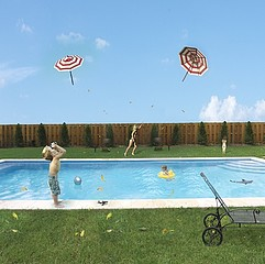 Julie Blackmon: Flying Umbrellas