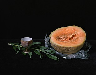 Justine Reyes: Still Life with Cup and Melon, 2009