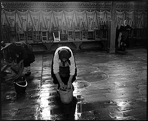Kathleen Laraia McLaughlin: Church Cleaning, Rozavlea, Romania, 2000