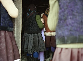 Kathleen Laraia McLaughlin: Back of Church, Sarbi, Maramures, 2003