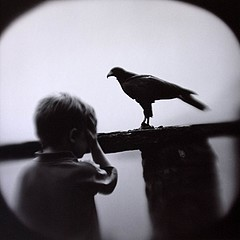 Keith Carter: Boy and Hawk