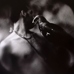 Keith Carter: Man and Hawk