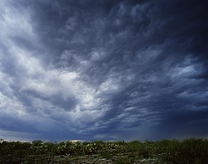 Kevin Erskine: Desert with Hail, Brownfield, Texas, 2007