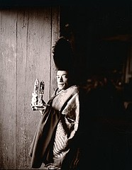 Linda Connor: Monk Holding Torma, Phiyang Monastery, Ladakh, 1998