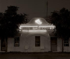 LOCAL EIGHT: Steve Fitch – Motel, Highway 85, Truth or Consequences, New Mexico,, 1973