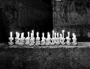 Margaret Stratton: Candles, Underground Naples, Naples, Italy