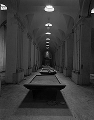 Margaret Stratton: Pool Tables, Galleria Umberto 1, Naples, Italy