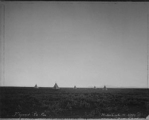 Mark Klett: Plywood Tee-Pees, Meteor Crater, AZ, 1982