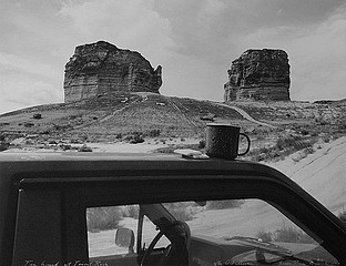 Mark Klett: Tea Break at Teapot Rock, After O'Sullivan Green River, Wyoming, 1997