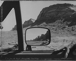 Mark Klett: View From the Truck Driving Below Comb Ridge Utah, 1989