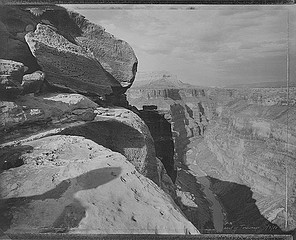 Mark Klett: View of Grand Canyon in Homage to William Bell, East of Toroweap, 1988
