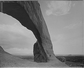 Mark Klett: Beneath the Great Arch, Near Monticello, Utah, 1982