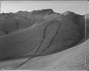 Mark Klett: Dirt Bike Loop, West of Hanksville, Utah, 1991